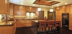 Lakberendezés: nappaliban a konyha